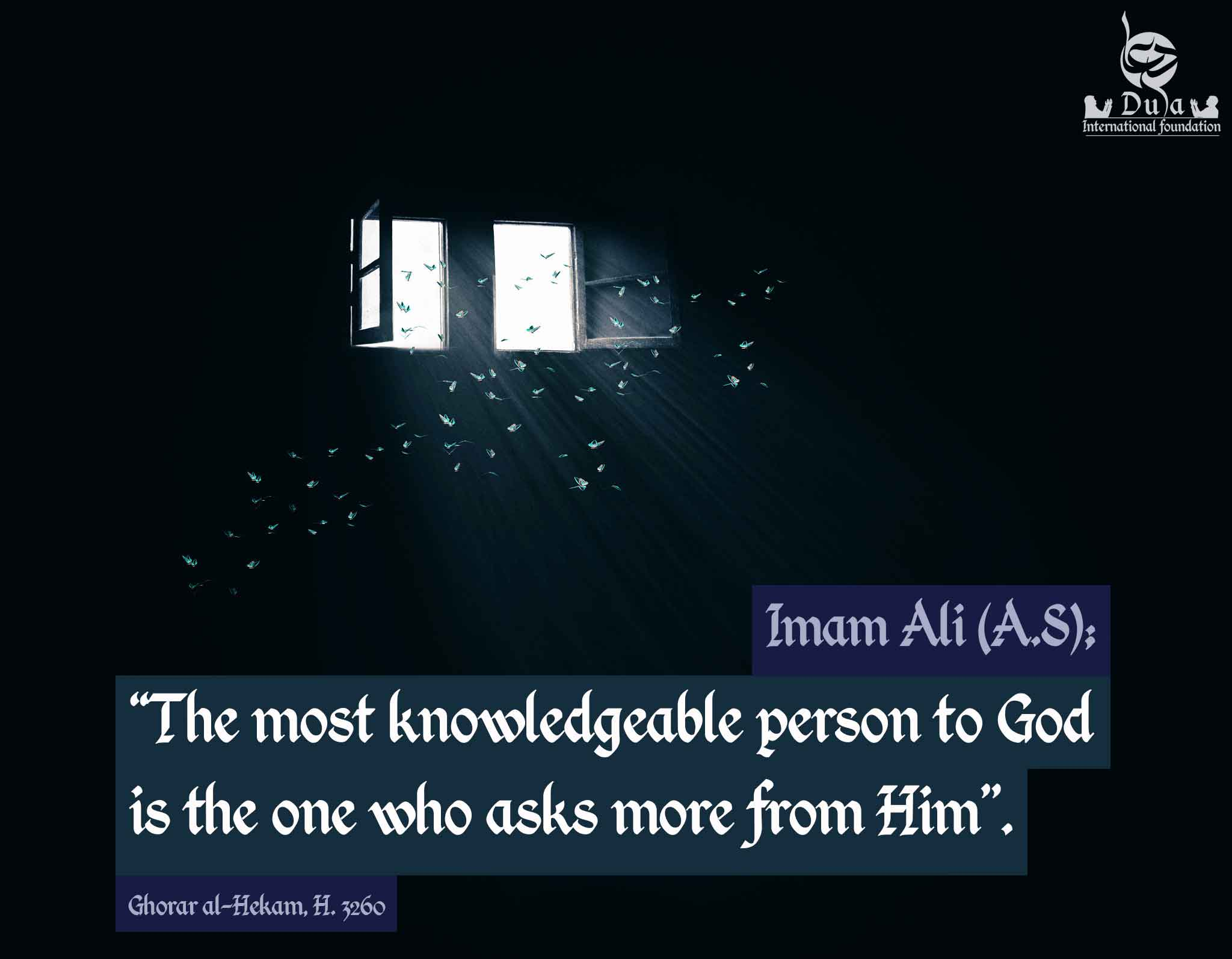 The Most knowledgeable Person.  imam ali quotes